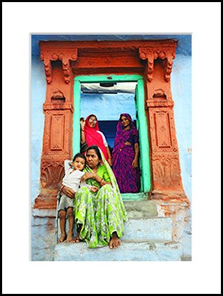 Rajasthan Women in Doorway